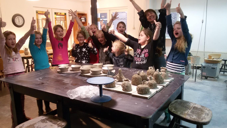 eindresultaat-kinderfeestje-pottenbakkerij-drenthe-westerbork